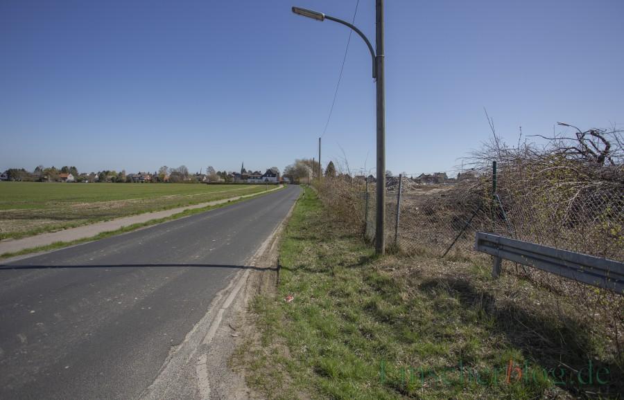 Der Bürgerblock fordert den Bau eines neuen Rad- und Gehweges auf der südlichen Seite der Sölder Straße in Höhe des geplanten Wohnparks Emscherquelle. (Foto: P. Gräber - Emscherblog)