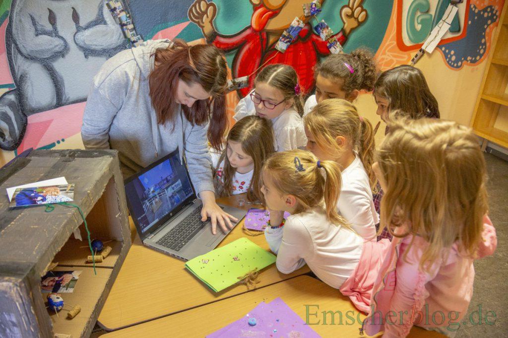 Auch einen richtigen Zeichentrickfilm haben die Kinder im Rahmen des Projektes erstellt. (Foto: P. Gräber - Emscherblog)