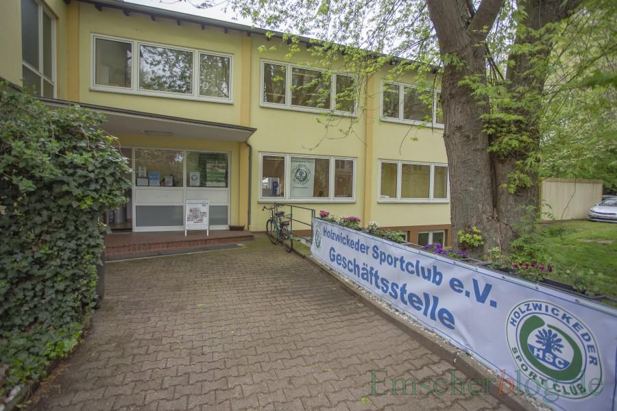 Einige der neuen Kursangebote finden auch hier statt: die neue HSC-Geschäftsstelle an der Hauptstraße 47 (Eingang Kirchstraße). (Foto: P. Gräber - Emscherblog.de)