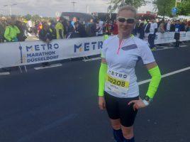 Die Lauftrainberin des HSC, Iryna Detering, belgte bei den Deutschgen Meisterschaften im Marathonlaufen (W40) den 4. Platz. (Foto: privat)