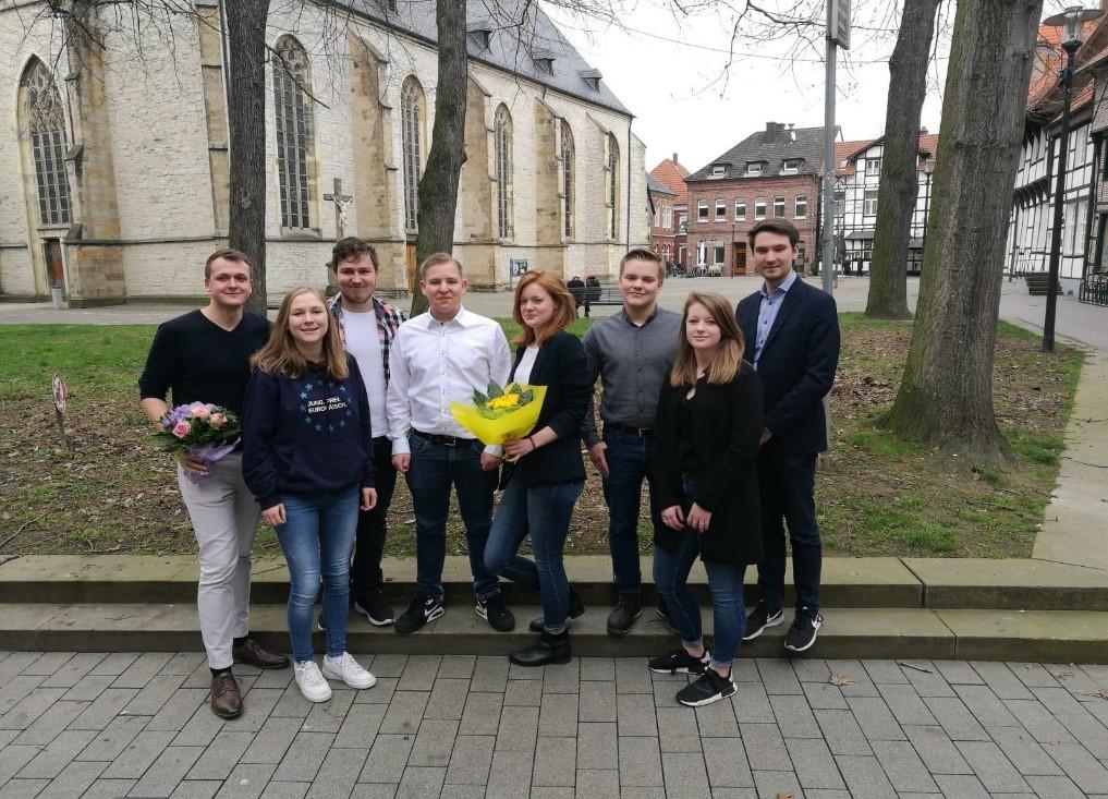 Der neue Vorstand der Schüler Union des Kreises Unna nach der Wahl. (Foto: privat)