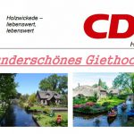 CDU-Bürgerfahrt nach Giethoorn ausgebucht
