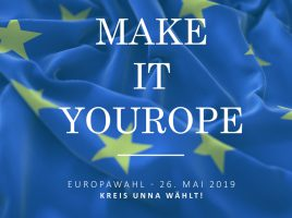 Mit diesem Flyer wirbt der Kreis Unna für die Teilnahme an der Europawahl. (Foto: Kreis Unna)