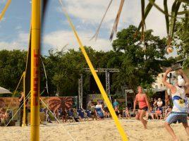 In der kommenden Woche verwandelt sich der Marktplatz in Holzwickede in einen Karibik.Strand: Die Veranstalter laden zum Beachvolleyball-Turnier für jedermann ein. (Foto: Beach Projekt GmbH)
