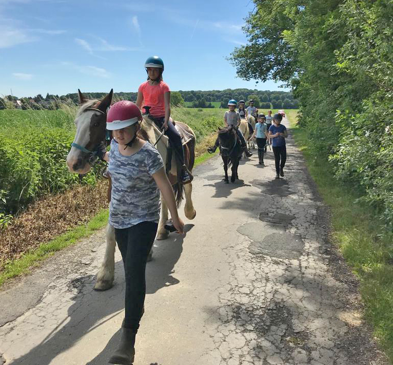 Zum 8. Mal war der Ponyhof Hilbeck bei Werl das Ziel einer Freizeit der Ev. Jugend Holzwickede und Opherdicke nur für Mädchen. (Foto: privat)
