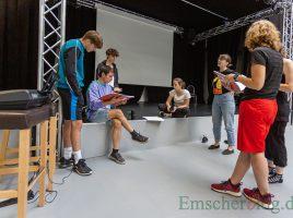 Die Vorbereitungen für das Musical sind harte Arbeit: Auch während der kommenden Ferien treffen sich die Mitglieder jeden Dienstagabend zur Probe in der Kinderglück-Halle. (Foto: P. Gräber - Emscherblog)