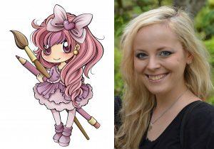 Manga-Mädchen (Copyright: A. Völkel) - Workshop-Leiterin: Alexandra Völkel.