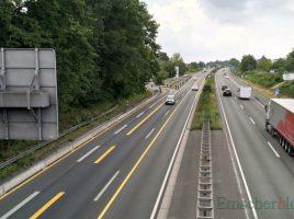 In diesem Bereich wird die Bundesstraße 1 sechsspurig zur Autobahn 40 ausgebaut. Die vorausgehenden Lärmschutzmaßnahmen in Höhe Wilhelmstraße (rechts) haben planmäßig heute begonnen. (Foto: P. Gräber - Emscherblog)