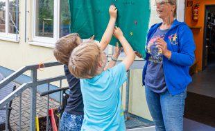 Darum geht's bei den Prüfungen des Herakles: Die Sieger dürfen sich einen großen Stern auf ihre Fahne heften. (Foto: P. Gräber - Emscherblog)