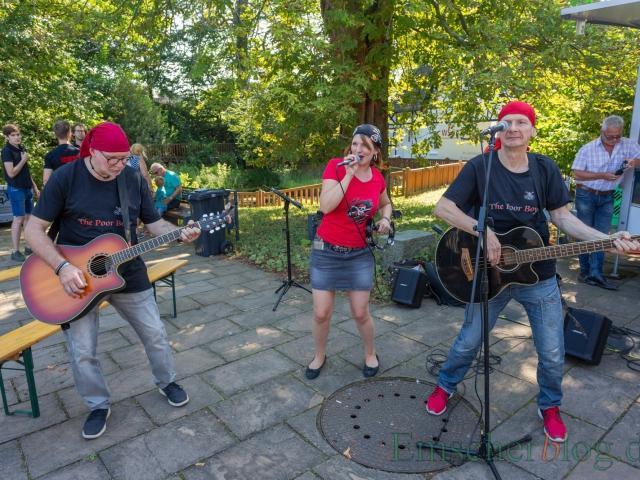 The Poor Boys & Girls sorgten am Samstag beim Emscher Food schon ab mittags für Stimmung.  (Foto: P. Gräber - Emscherblog)