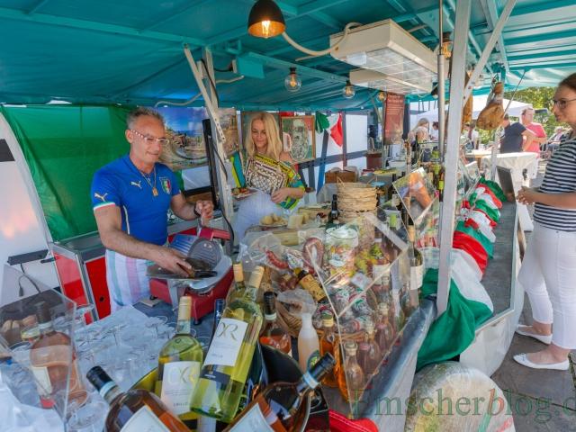 Auch italienische Spezialitäten waren beim Emscher Food im Angebot.  (Foto: P. Gräber - Emscherblog)