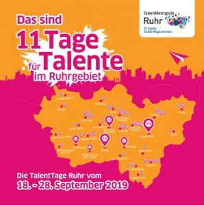 Der Flyer zu den TalentTagen 2019.
