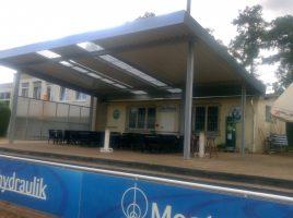 HSC, Ballhaus, Terrasse, Überdachung, (Foto: privat)