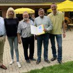 Friedhelm Hahne beim Sommerfest der FDP Holzwickede geehrt