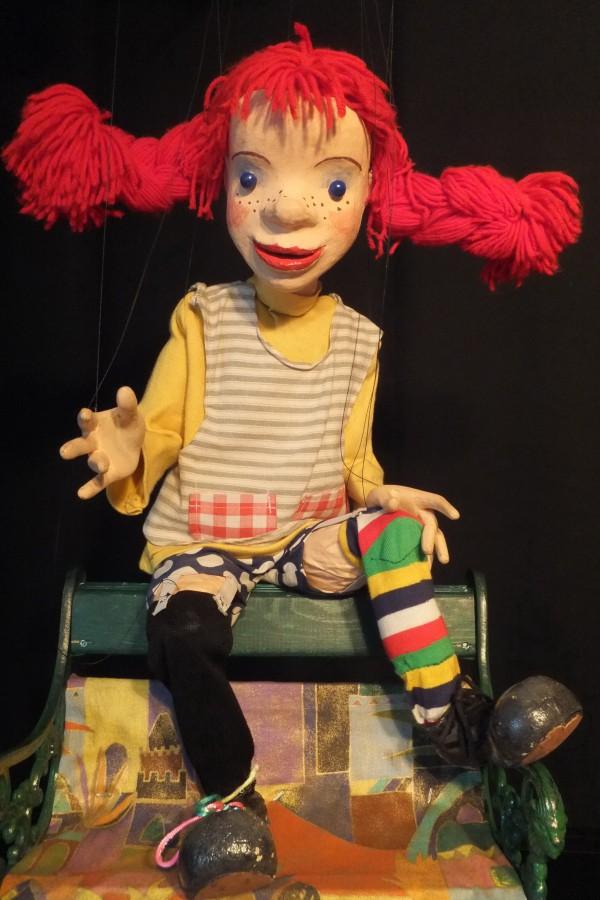 """""""Pippi Langstrumpf"""" und Wodo Puppenspiel sind am 4. Oktober in der Gemeindebücherei zu Gast. Karten gibt es am kommenden Dienstag (3. September). (Foto: Wodo Puppenspiel)"""
