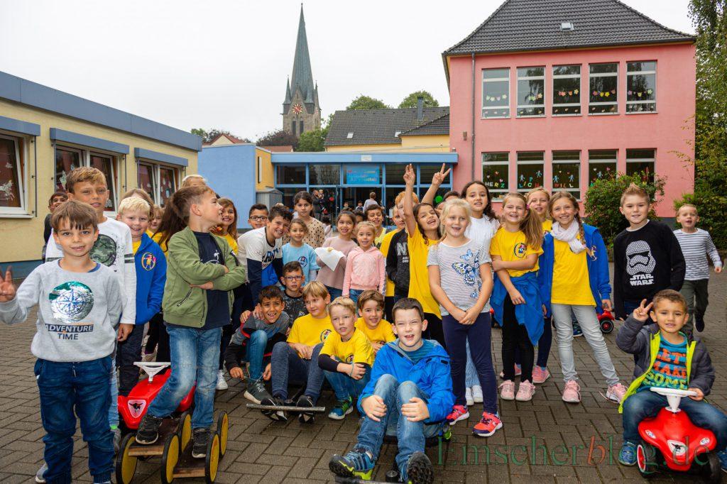 Hatten heute viel Spaß miteinander: Die Kinder der Aloysiusschule und der Karl-Brauckmann-Schule feierten heute ein buntes Spielfest miteinander. (Foto: P. Gräber - Emscherblog)