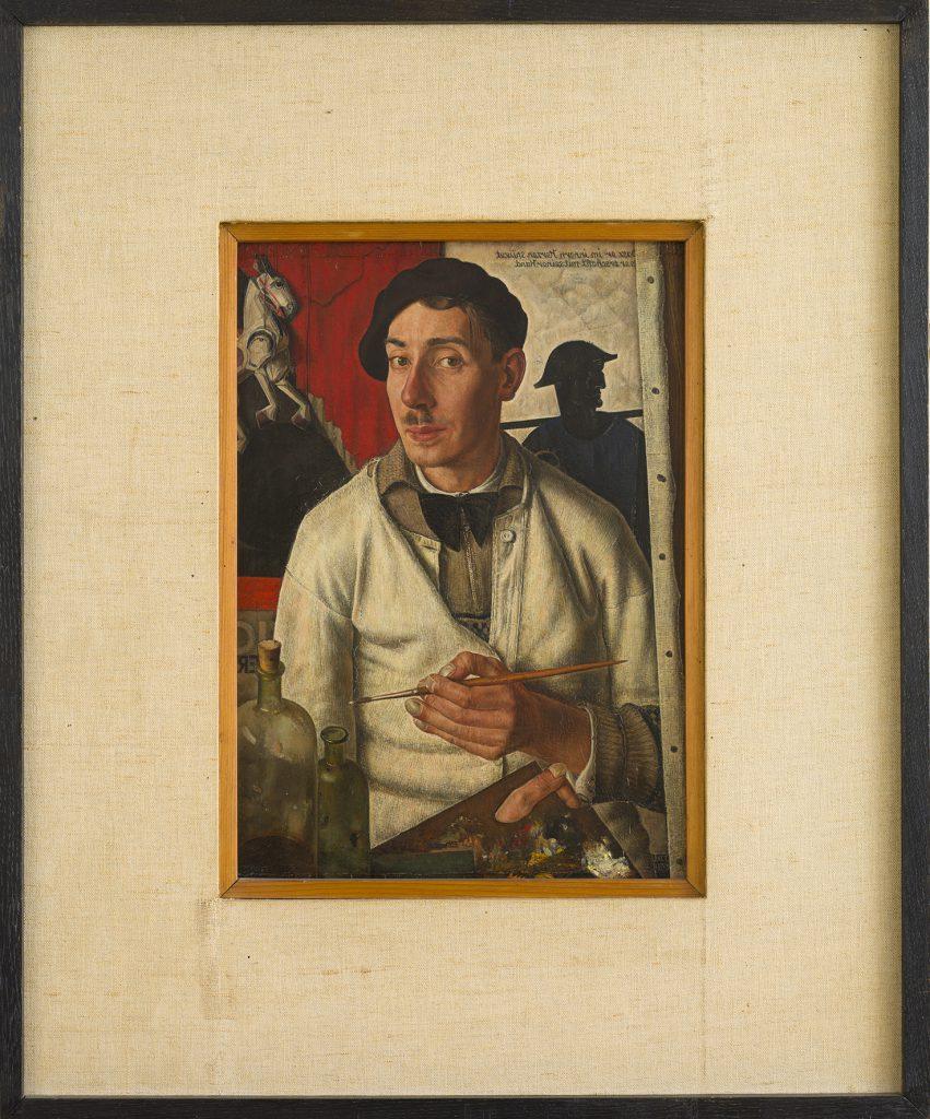 Dick Ket, Zelfportret met baret (Selbstportät mit Barett), 1933, Öl auf Holz, 38,5 x 26,4 cm, Collection Museum Arnhem. (Foto: Peter Cox)
