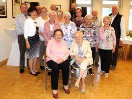 Die im Juli und August geborenen Mitglieder des Trägervereins bei ihrer Geburtstagsnachfeier in der Senioren-Begegnungsstätte. (Foto: privat)