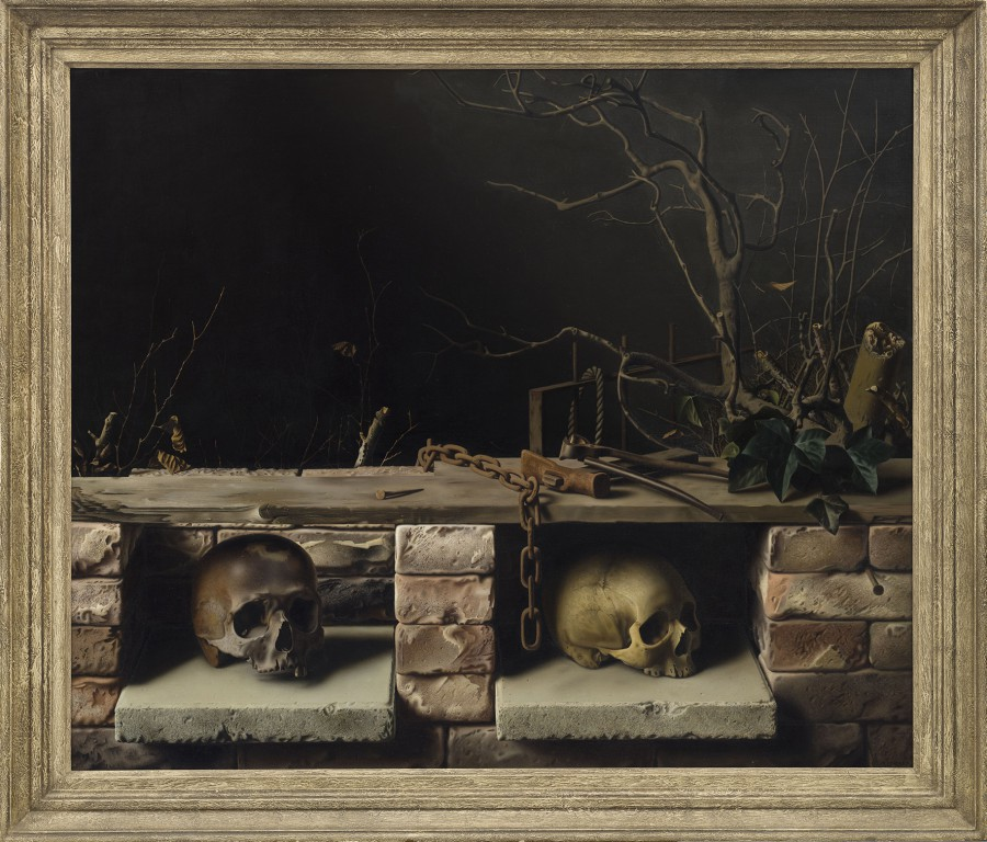 Raoul Hynckes, Stilleven met twee schedels (Stillleben mit zwei Schädeln), 1937 Öl auf Leinwand, 89,5 x 108 cm, Collection Museum Arnhem (Foto: Peter Cox)