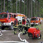 Der Wald brennt: Bei Übung eilen auch Wehren aus dem Kreis zu Hilfe