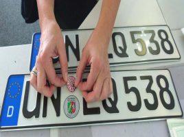Kennzeichen, Zulassung, Kraftfahrzeuge