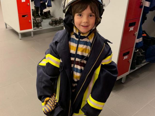 Da war die Enttäuschung über den Verlust des Drachens bei dem Fünfjährigen schnell vergessen. (Foto: privat)