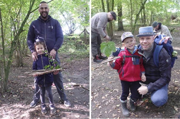 Stolz präsentieren die Kinder mit ihren Vätern die selbstgebaute Flöße. (Foto: privat)