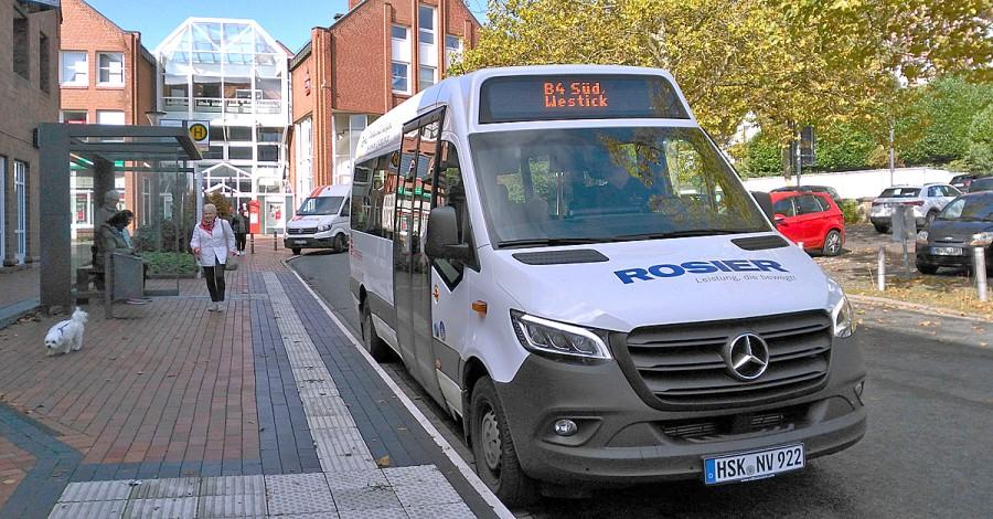 Der Bürgerblock möchte auch in Holzwickede einen Bürgerbus nach Vorbild des Fröndenberger Bürgerbusses (Foto) auf ehrenamtlicher Basis einrichten. (Foto: Hans-Ulrich Neuendorf)