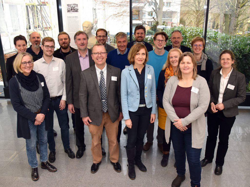 Kreis Unna als Gastgeber: Im Kreishaus trafen sich Vertreter aus ganz NRW, um über die Umsetzung von Klimathemen im Kreisverwaltungen zu sprechen. (Foto: Birgit Kalle – Kreis Unna)