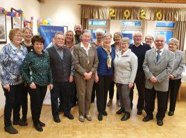 Der Trägerverein der Begegnungsstätte lud seine im März und April geborenen Mitglieder zur 75. Geburtstagsnachfeier in den Seniorentreff ein. (Foto: privat)