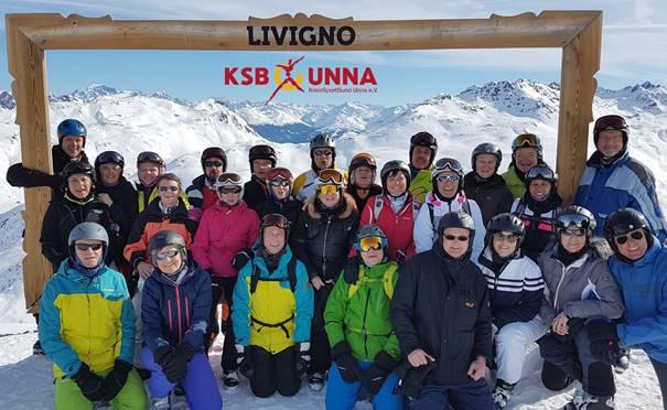 Die Teilnehmer der Sportfreizeit des KSB in Livigno. (Foto: privat)