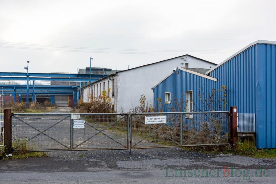 Das ehemalige Gelände der Firma Künstler (Foto) ist inzwischen an einen privaten Investor verkauft. Über den Verkauf einer angrenzende weiteren Fläche in Gemeindebesitz ist noch nicht entschieden.  (Foto: P. Gräber - Emscherblog)