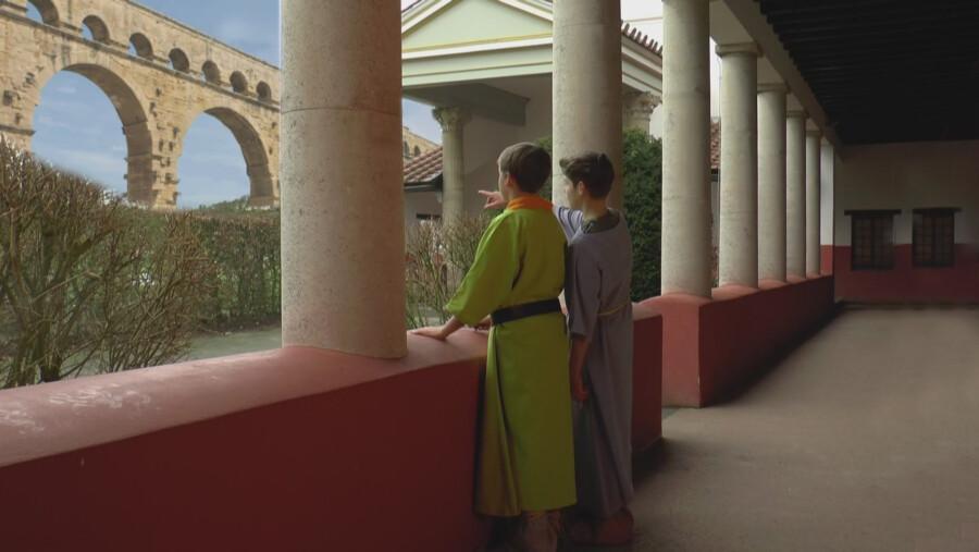 In dieser Szene deutlich zu erkennen: der im Blue-Box-Verfahren erstellte Hintergrund. (Foto: privat)