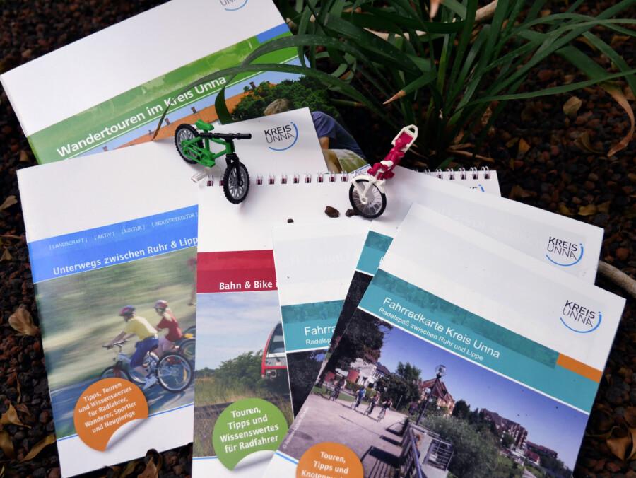 Die Fahrradkarte Kreis Unna ist neu aufgelegt und andere Tourentipps gibt es natürlich auch. (Foto: Constanze Rauert – Kreis Unna)