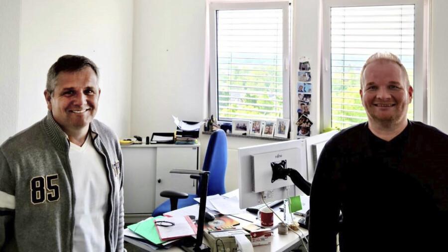 Wurde zum stellvertretender Leiter des Fachbereichs III (Finanzen) bestellt: Andreas vom Lehn (re.) mit Kämmerer und Fachbereichsleiter Andreas Heinrich. (Foto: Gemeinde Holzwickede)