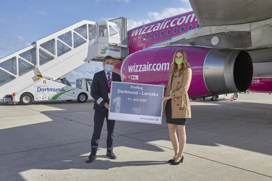 Seit Samstag verbindet Wizz Air Dortmund mit Zypern: Erstflug nach Larnaka am 11. Juli ab Dortmund. (Foto: Flughafen Dortmund)