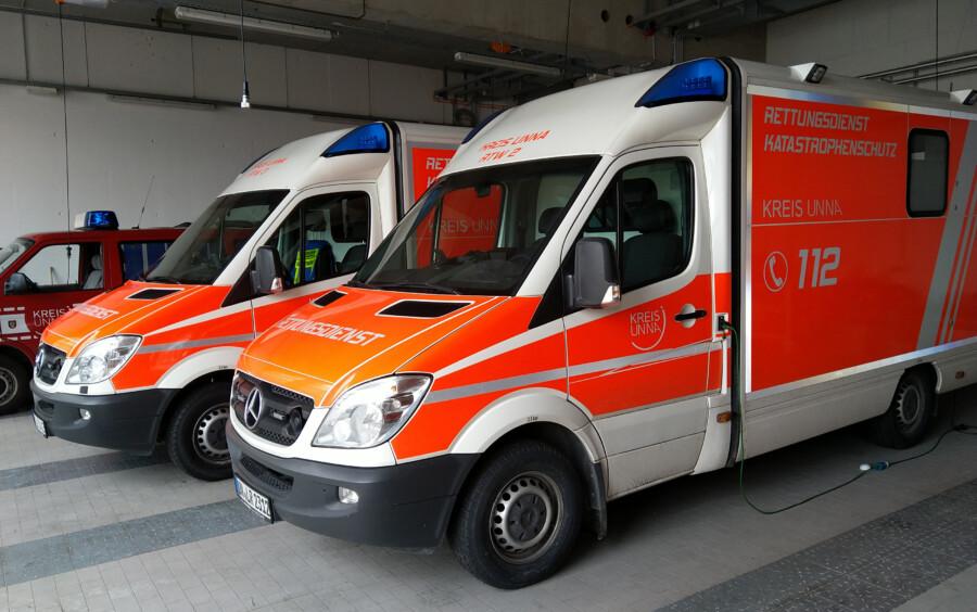 Rettungswagen der Leitstelle Kreis Unna. (Foto: Foto: Max Rolke – Kreis Unna)