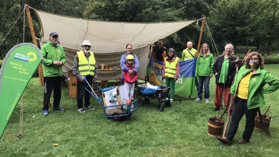 Die Grünen hgatten am Samstag im Emscherpark zum Gespräch mit den Bürgern gebeten und viele Anregungen erhalten. ((Foto: privat)