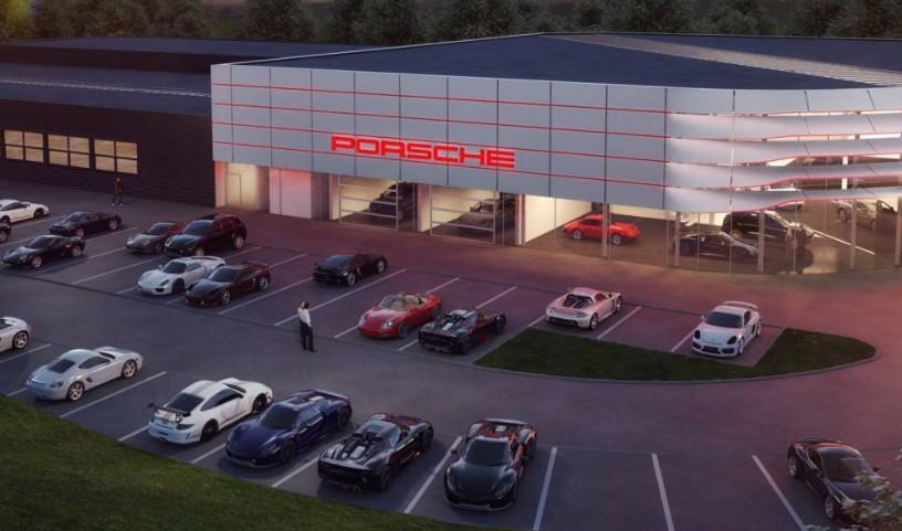 So soll das neue Porsche Zentrum nach Fertigstellung aussehen. (Foto: Porsche)