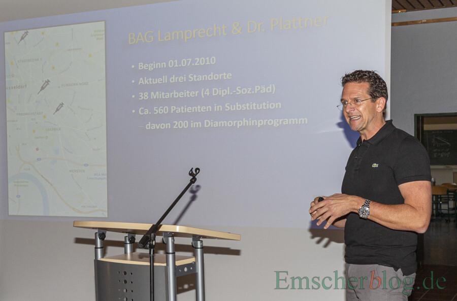 Warb für die Diamorphinambulanz in Holzwickede: Dr. Christian Plattner, Betreiber der Praxis an der Wilhelmstraße. (Foto: P. Gräber - Emscherblog)