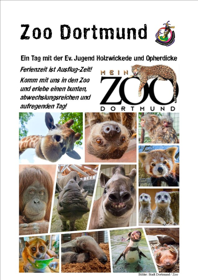 t einem Ausflug in den Dortmunder Zoo startet das  Ausflugsprogramm der Ev. Jugend am 19. Oktober. (Foto: Ev. Jugend)