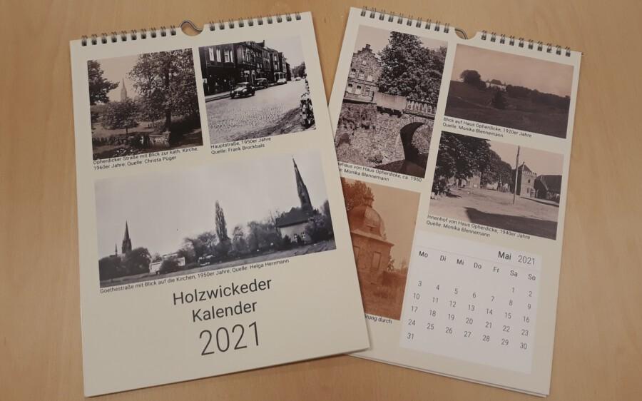 Der Kalender der Aktiven Bürgerschaft für das Jahr 2021 zeigt alte Ansichten aus Holzwickede. (Foto: Aktive Bürgerschaft)