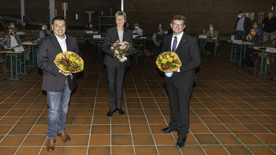 Peter Wehlack (li.) und Frank Lausmann (re.) wurden zu Stellvertretern der 1. Bürgermeisterin Ulrike Drossel gewählt (Foto: P. Gräber - Emscherblog)