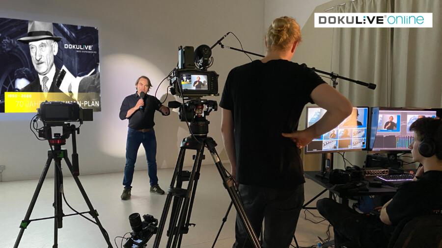 Der Mainzer Politologe und Vortragsprofi Ingo Espenschied bietet die multimediale interaktive Zeitreise DOKULIVE online an. (Foto: Freundeskreis)