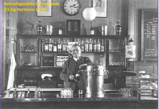 Ein legendärer Wirt der Bahnhofsgaststätte: Franz Kamm, Aufnahme ca. 1955 (Foto: Historischer Verein)