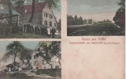"""Diese Postkarte zeigt die Gastwirtschaft """"Zur Waldesluft"""" (später Haus Pampus) ca. 1900. (Foto: Historischer Verein)"""
