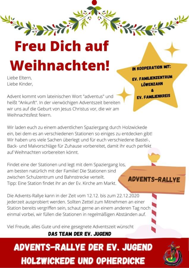 Ev. Jugend, Advents-Rallye, Flyer