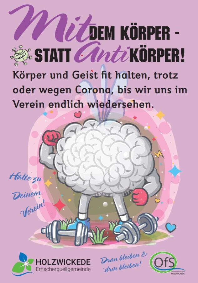 Das von Elke Strauch entworfene Plakat. für die Aktion des Ortsverbands für Sport.