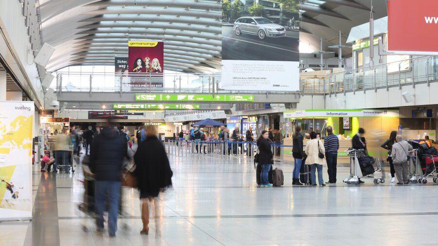 Die Zahl der Passagiere sank im Jahr 2020 im Vergleich zum Rekordvorjahr 2019 um mehr als die Hälfte. Insgesamt nutzen rd. 1.22 Mio. Fluggäste den Dortmund Airport im Jahr 2020 für eine Reise. (Foto: Dortmund Airport)