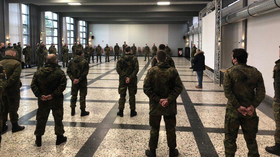 In der Glückauf-Kaserne in Unna-Königsborn wurden die Soldatinnen und Soldaten begrüßt. (Foto: Bundeswehr)